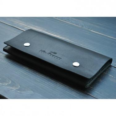 Портмоне кожаное мужское Purse Style black leather
