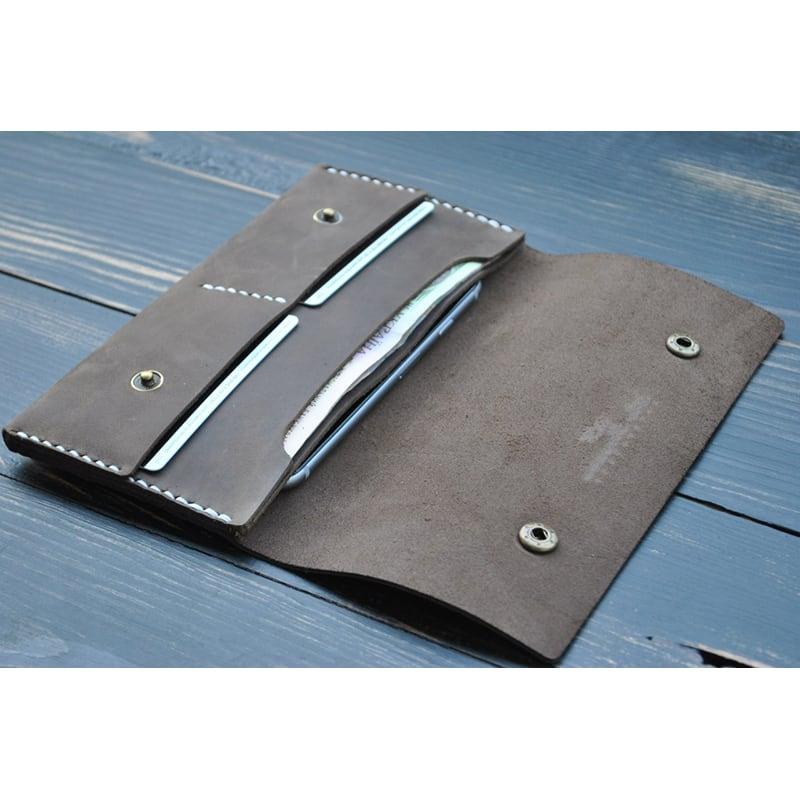 Мужской кошелек Purse Elegant brown leather