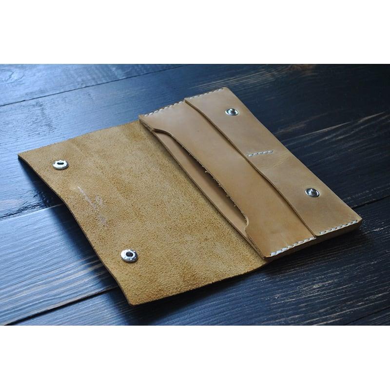 Чоловічий гаманець Purse Mustard brown leather