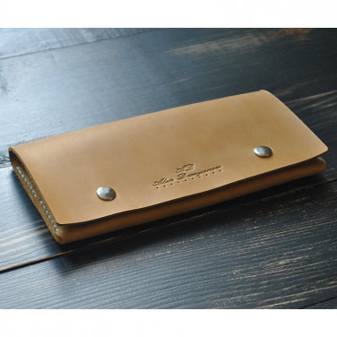 Мужской кошелек Purse Mustard brown leather