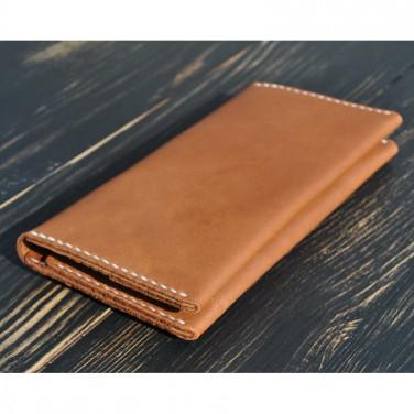Мужской кошелек кожаный Purse Bourbon brown leather