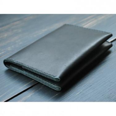 Кошелек кожаный мужской Purse Ergonomic black leather