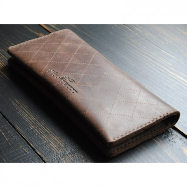Мужской кошелек Purse Chocolate brown leather