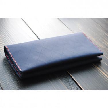 Шкіряне портмоне чоловіче Purse Емегу blue leather