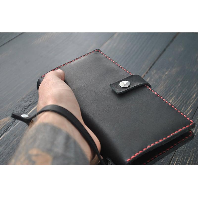 Портмоне чоловіче Purse Night sky black leather