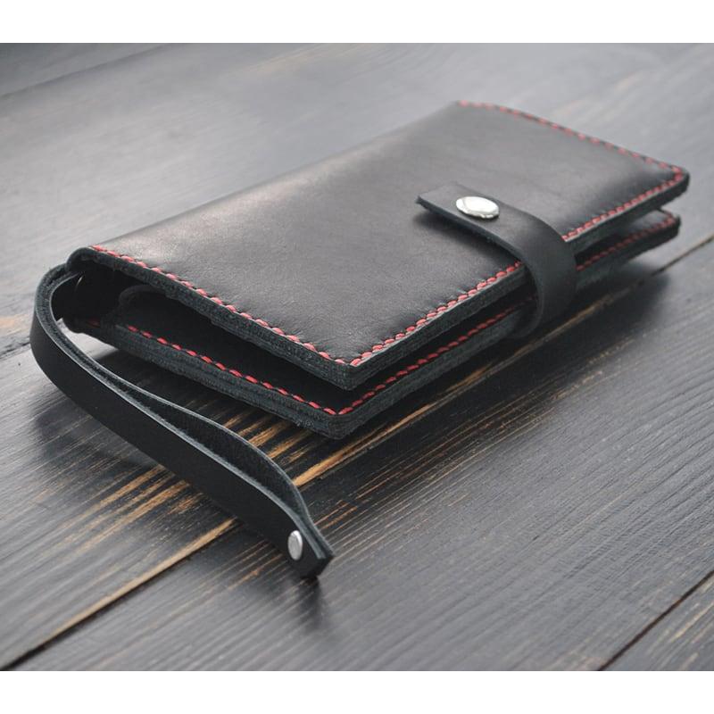 f94bf3544aa3 AXES | Портмоне мужское Purse Night sky black leather. Цена, купить ...