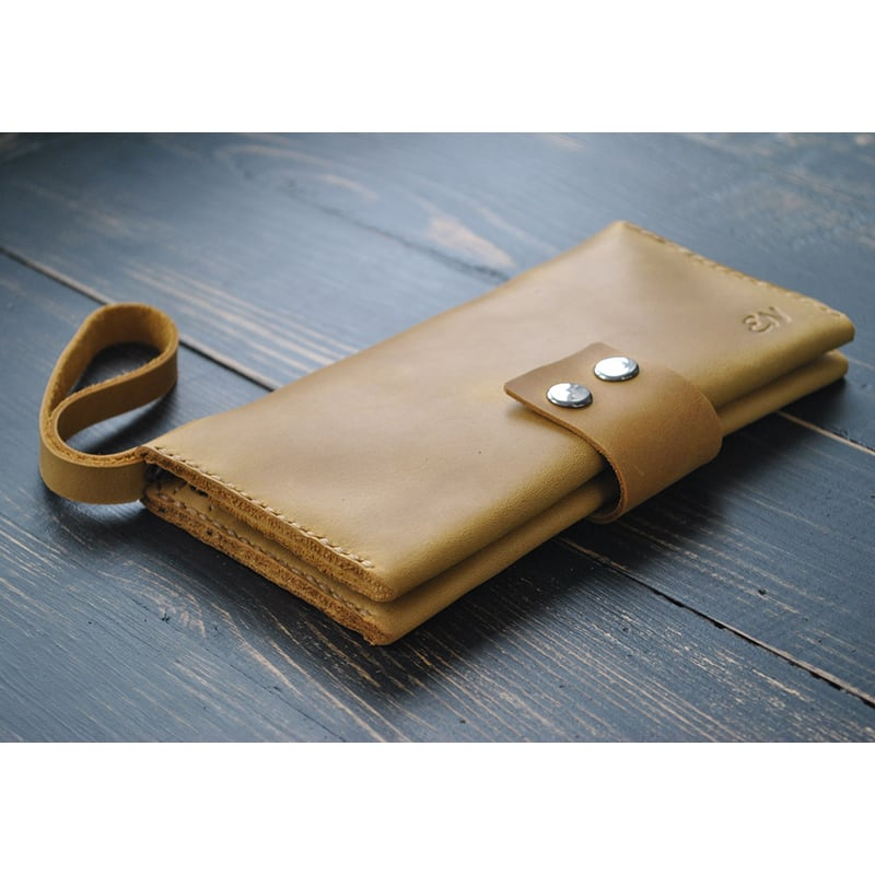 Кошелек мужской Clutch Sienna brown leather