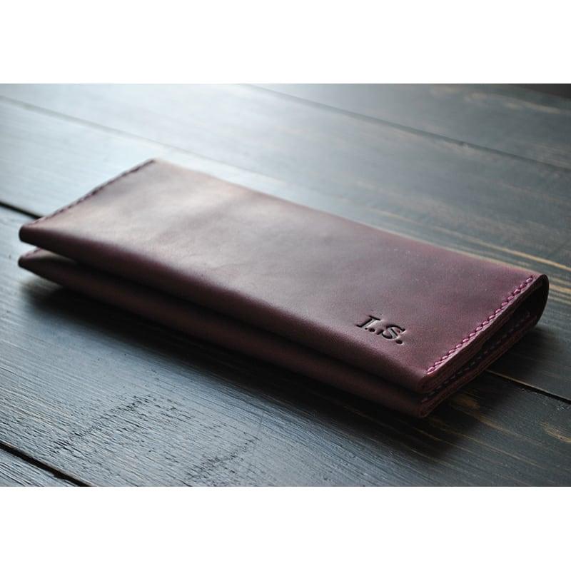 Портмоне мужское кожаное Purse Burgundy vinous leather