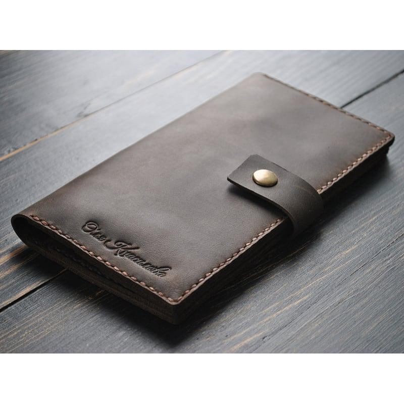 Кошелек кожаный Purse Umber brown leather