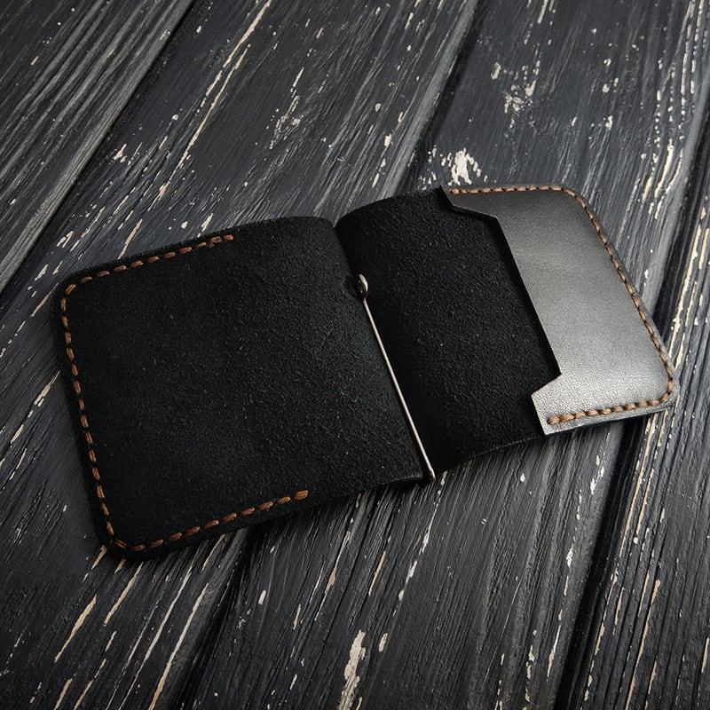 Затиск для грошей Money Сlip Classic black leather