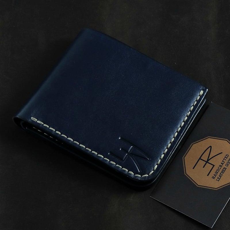 Кожаный кошелек Purse Contrast black leather