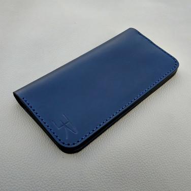 Шкіряне портмоне Vintage Wallet Blue leather