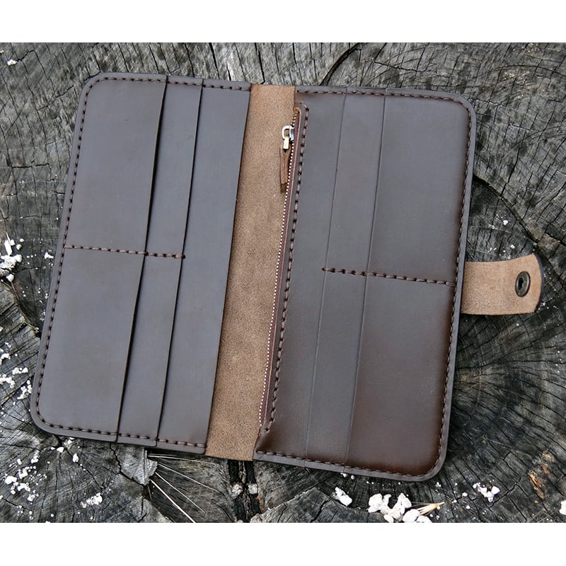 Кожаный кошелек Italian Classic brown leather
