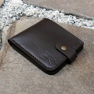 Шкіряний гаманець Purse Smart brown leather
