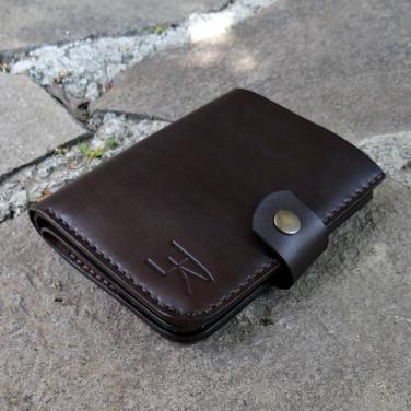 Шкіряний чоловічий гаманець Purse Stylishly brown leather