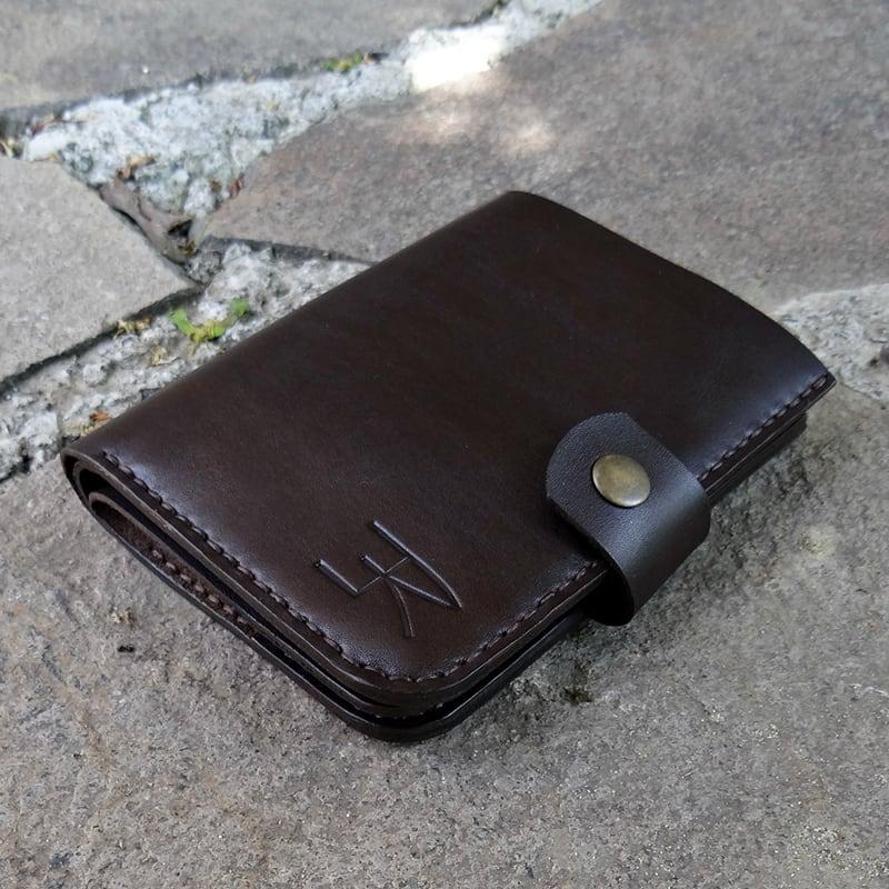 Кожаный мужской кошелек Purse Stylishly brown leather