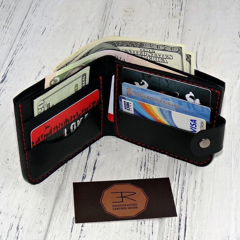 Чоловічий шкіряний гаманець Purse Dynamic black leather