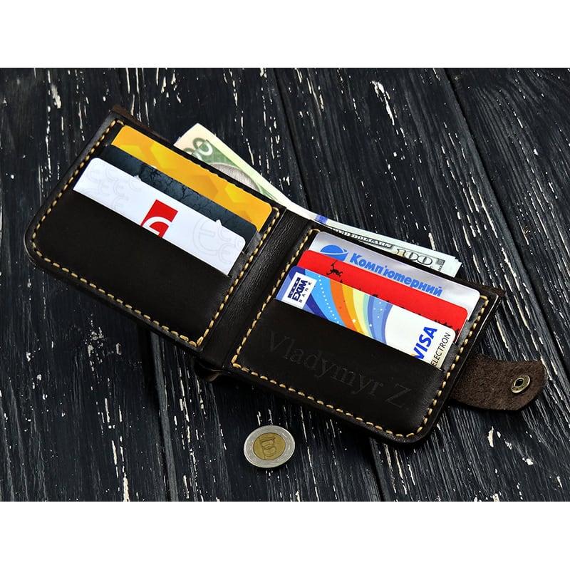 Чоловічий гаманець Purse Роисһ brown leather