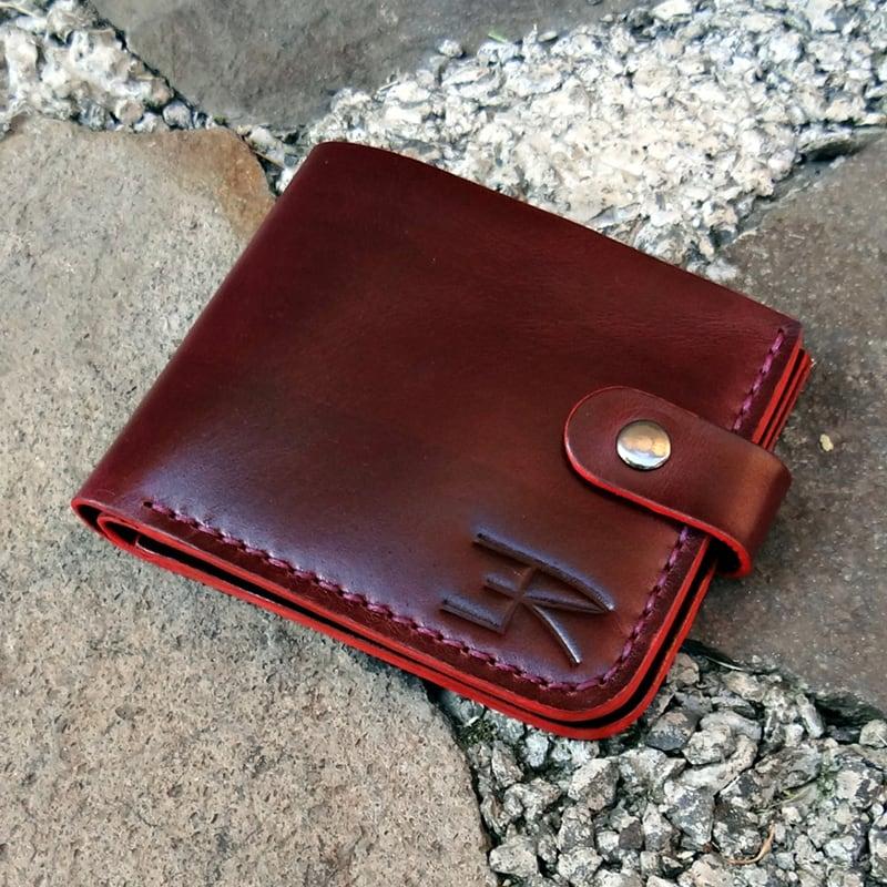Кожаный кошелек Purse Bordeaux vinic leather