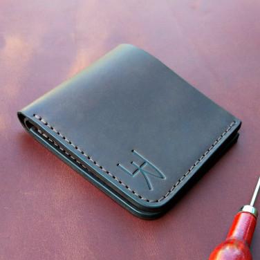 Мужское кожаное портмоне Purse Сlever brown leather
