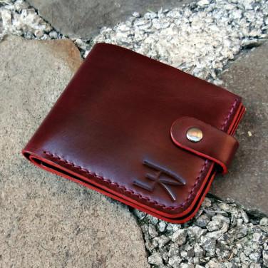 Шкіряний гаманець Purse Bordeaux vinic leather