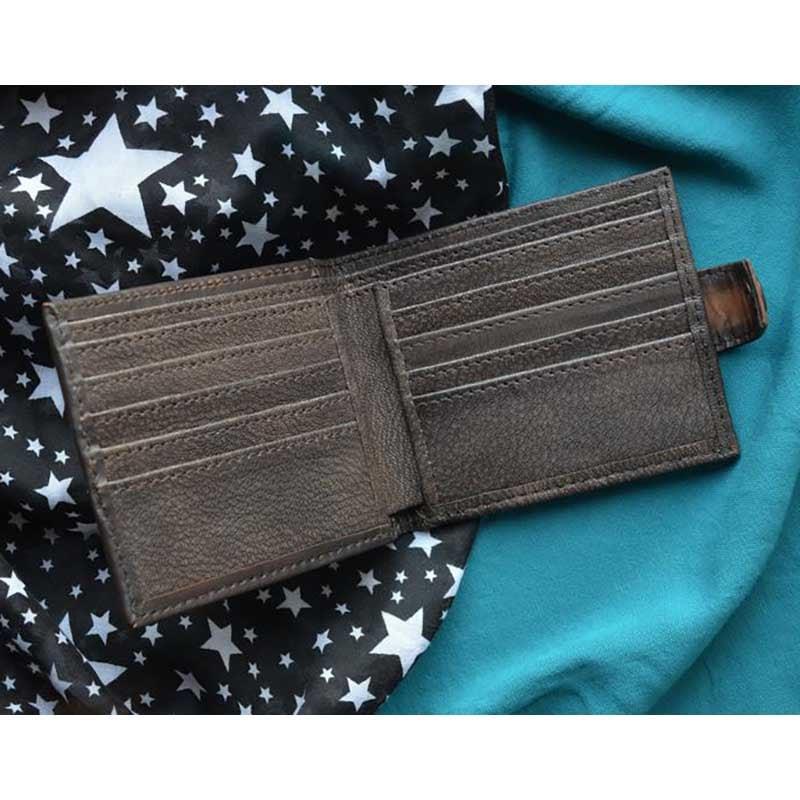 Мужское кожаное портмоне Purse Scorpio brown leather