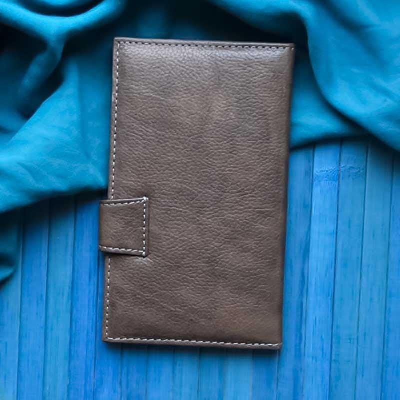 Чоловічий гаманець Purse Wind Rose brown leather