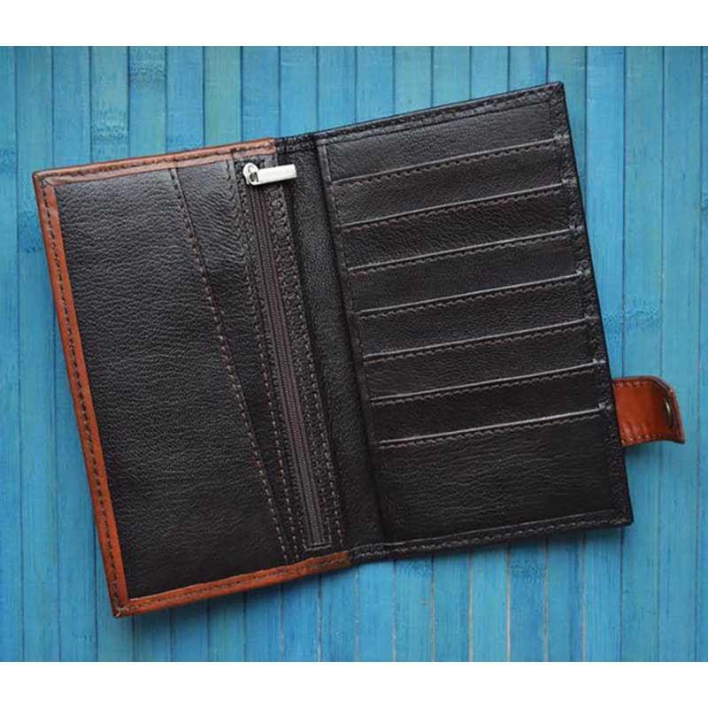 Чоловіче портмоне Purse Tiger brown leather