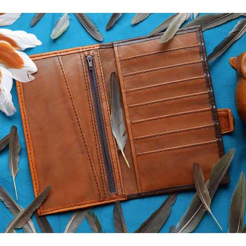 Чоловіче шкіряне портмоне Purse Celtic Owl brown leather