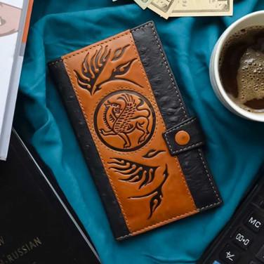 Чоловіче портмоне Purse Griffin brown leather