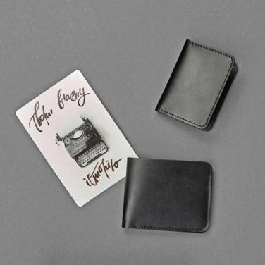 Гаманець чоловічий шкіряний у наборі 2 в 1 Wallet Вlack Leather