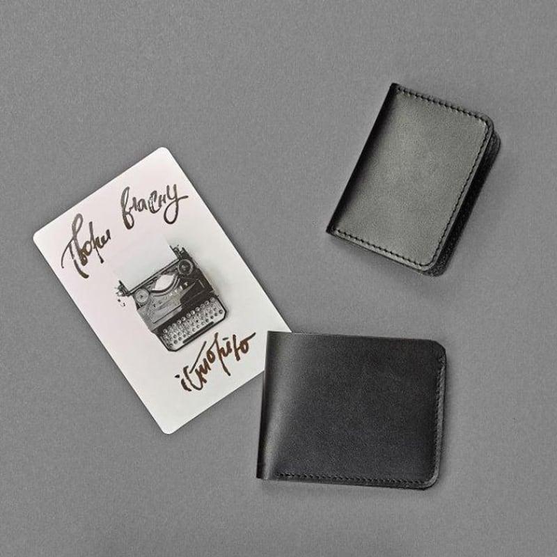 Кошелек мужской кожаный в наборе 2 в 1 Wallet Вlack Leather