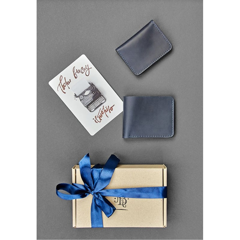 Гаманець чоловічий шкіряний у наборі 2 в 1 Wallet Gray Leather
