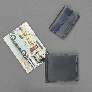 Гаманець чоловічий шкіряний у наборі 2 в 1 Purse Gray Leather