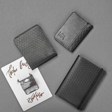 Портмоне чоловіче в наборі 3 в 1 Purse Вlack Leather