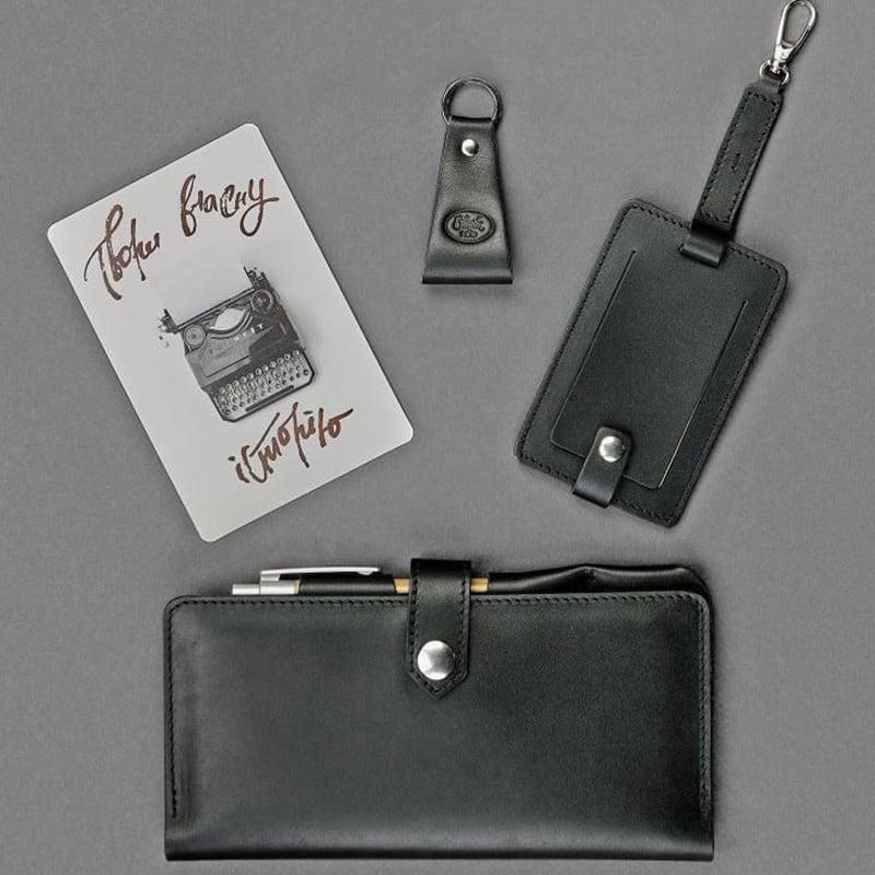 Гаманець чоловічий набір 3 в 1 Travel Case Вlack Leather