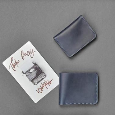 Кошелек мужской кожаный в наборе 2 в 1 Wallet Gray Leather