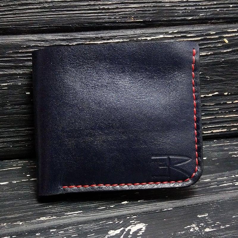 Портмоне мужское кожа Purse Smart black leather