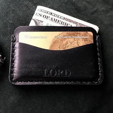 Кошелек мужской Card Holder Black Leather