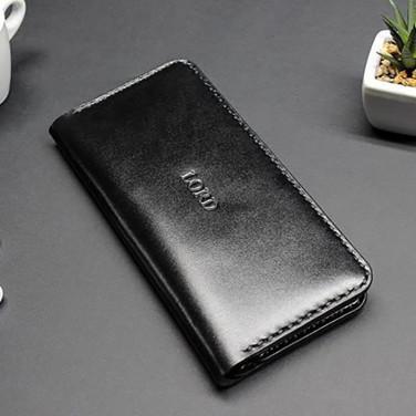 Кожаное портмоне Purse Black leather