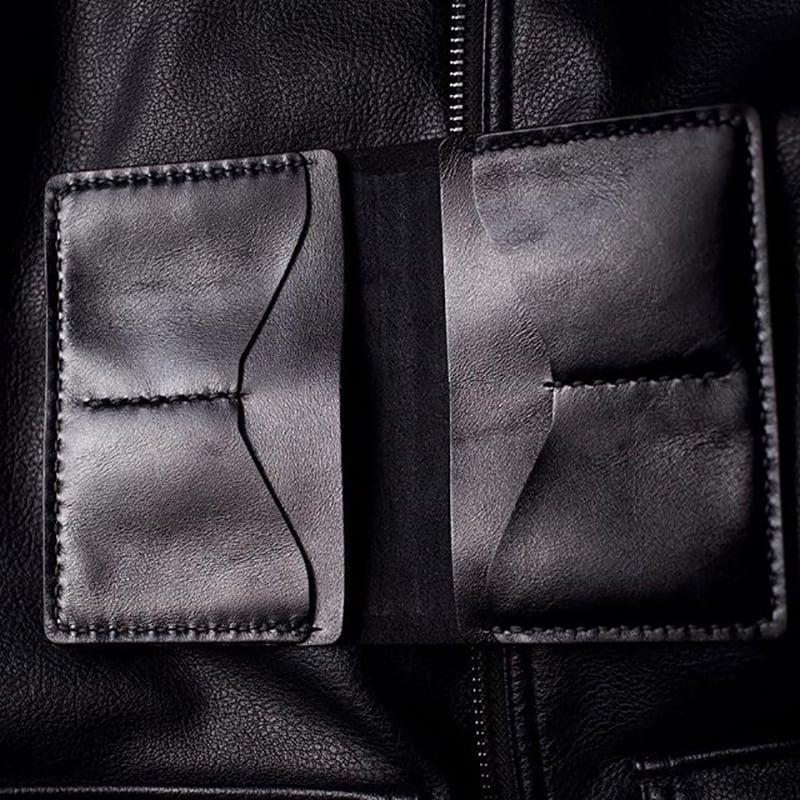 Обложка на паспорт кожа Léopard Black leather