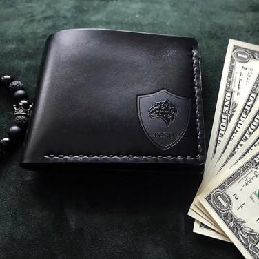 Кожаное портмоне Wallet Black leather
