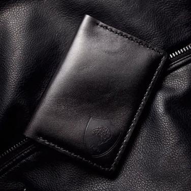 Обкладинка на паспорт шкіра Léopard Black leather