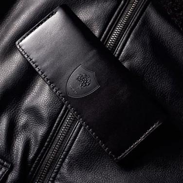 Шкіряне портмоне Léopard Black leather