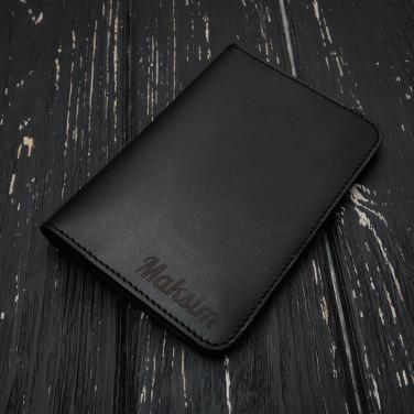 Шкіряне портмоне чоловіче Purse Мultipurpose black leather