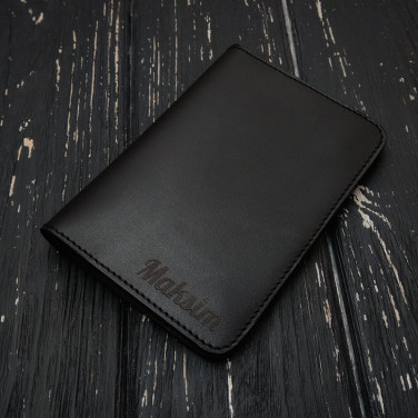 Кожаное портмоне мужское Purse Мultipurpose black leather