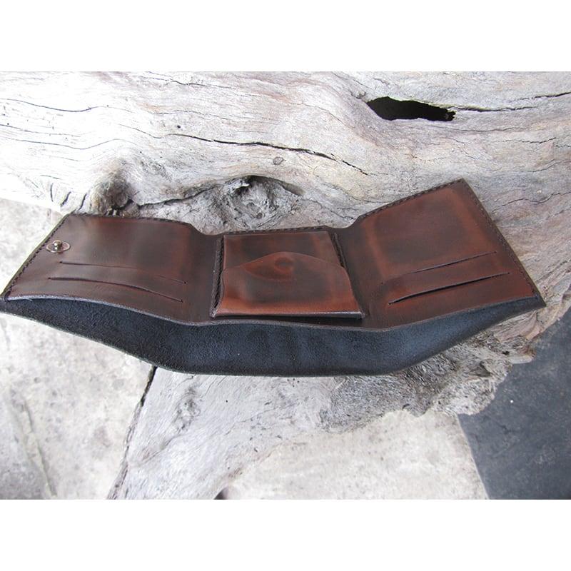 Шкіряне портмоне Purse Рermit Вrown leather