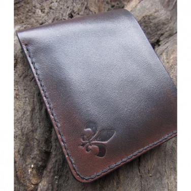 Кожаное портмоне Purse Аccord Вrown leather