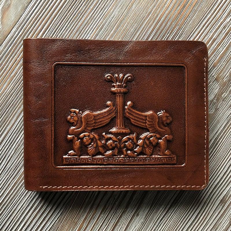 Шкіряне портмоне Purse Griffоn brown leather