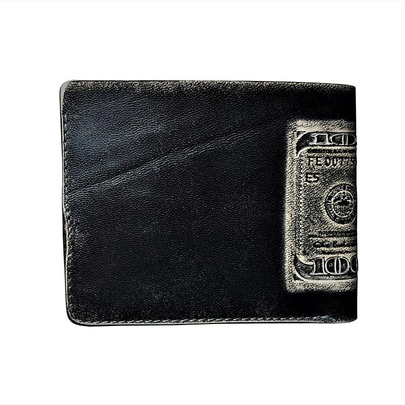 Шкіряний гаманець Purse Саѕһ black leather